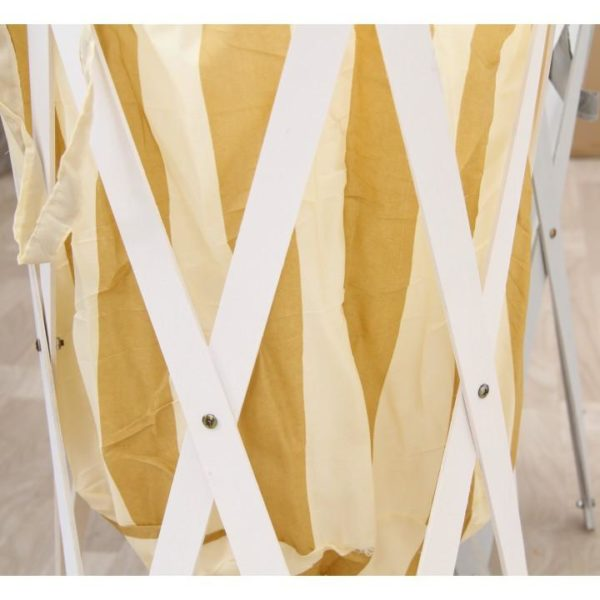 TEMPO KONDELA Skládací kôš na prádlo, biela, DZIMBO 3