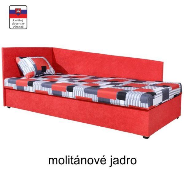 TEMPO KONDELA Váľanda s úložným priestorom, ľavá, s molitánovým matracom, 90x200, EDVIN 4 LUX