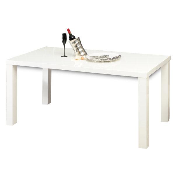 TEMPO KONDELA Jedálenský stôl, biela vysoký lesk HG, ASPER TYP 4