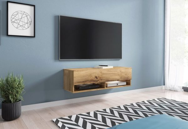 Expedo.sk TV stolek MENDES A 100, 100x30x32, dub Wotan, bez LED osvětlení