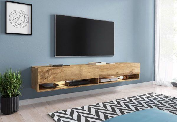 Expedo.sk TV stolek MENDES A 180, 180x30x32, dub Wotan, bez LED osvětlení