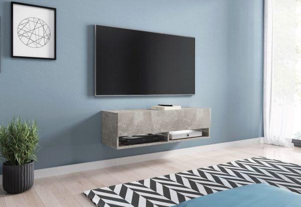 Expedo.sk TV stolek MENDES A 100, 100x30x32, beton, s LED osvětlením