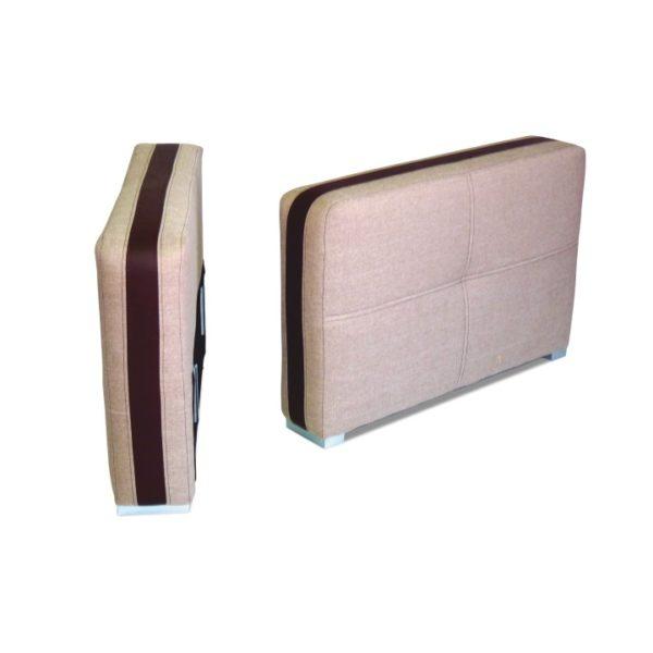 TEMPO KONDELA Rosana 15 L/P podrúčky (2 ks) svetlohnedá / čokoládová