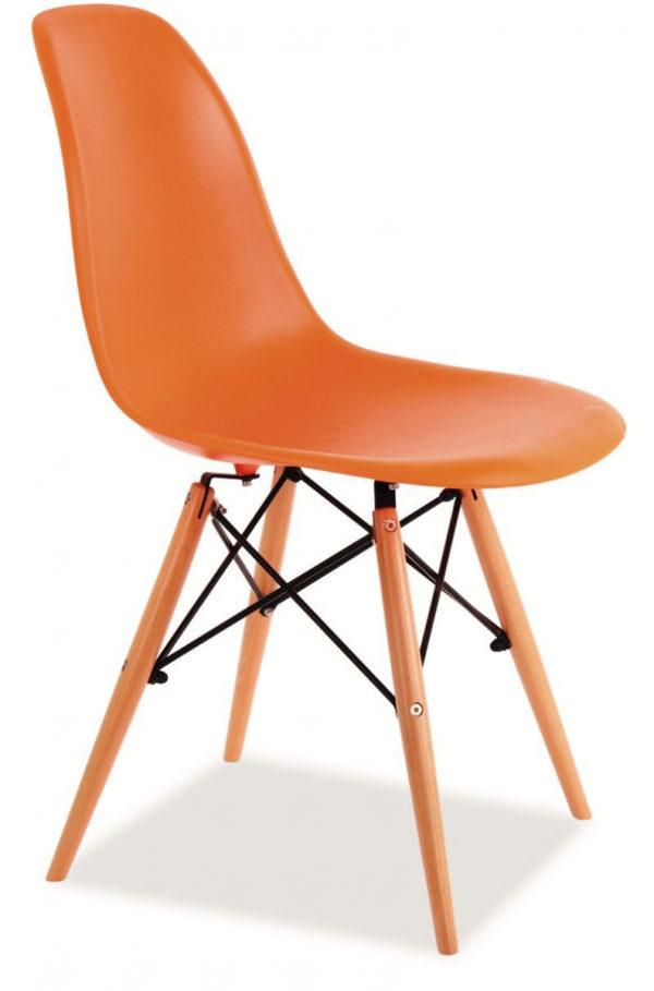 SIGNAL Enzo jedálenská stolička buk / oranžová