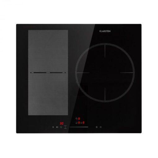 Klarstein Delicatessa 3 Flex, indukčná varná doska, 3 zóny, 6600W, sklokeramika, čierna