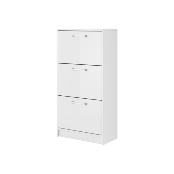 Botník, biela/biely lesk, ODEN 60