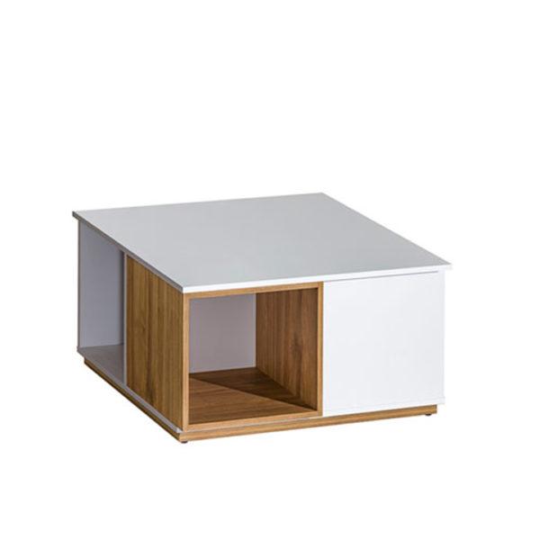 Konferenčný stolík, orech select/biela, KNOX E13