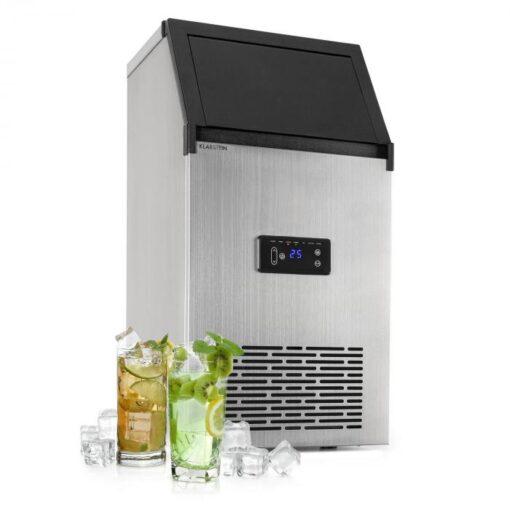 Klarstein Glacial XL, fesionálne zariadenie na výrobu kociek ľadu, 38 kg/d, 15 l, LED, ušľachtilá oceľ, čierne