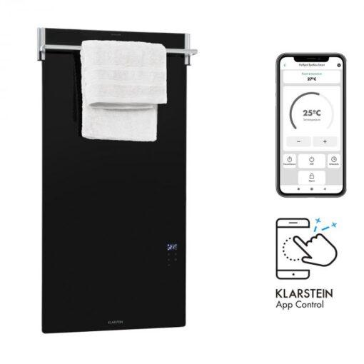 Klarstein Hot Spot Crystal Spotless Smart, infračervený ohrievač, 750 W, aplikácia, čierny
