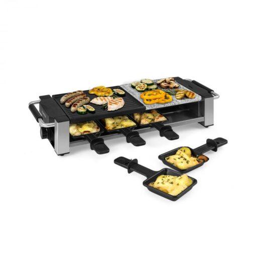 Klarstein Bistecca, raclette gril, 1200 W, kov/kameň, 8 osôb, LED kontrolka