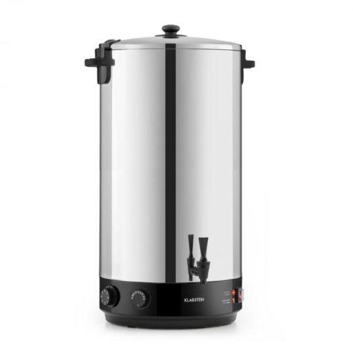 Klarstein KonfiStar 60, zavárací hrniec, automat na teplé nápoje, 2500 W, 60 l, 110 °C, 120 min., ušľachtilá oceľ