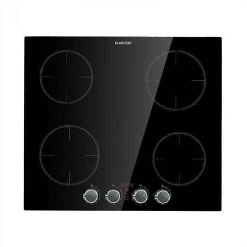 Klarstein Kochheld, 4-zónová indukčná varná doska, 6000 W, otočné regulátory, sklo, čierna
