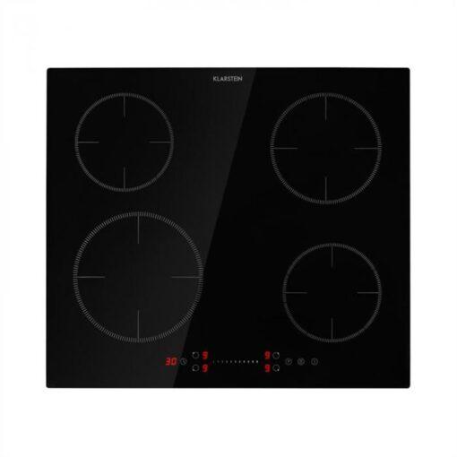 Klarstein Virtuosa EcoAdapt, indukčná varná doska, 4 zóny, 7200 W, sklo, čierna