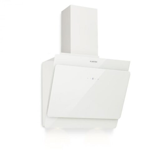 Klarstein Aurica 60, digestor, 60 cm, 610 m³/h, LED, dotykový, sklo, biely