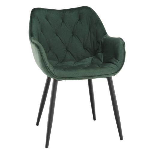 Dizajnové kreslo, zelená Velvet látka, FEDRIS
