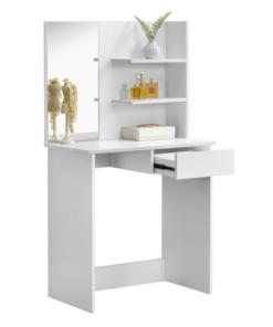 Toaletný stolík, toaletka, biela, BELEZA