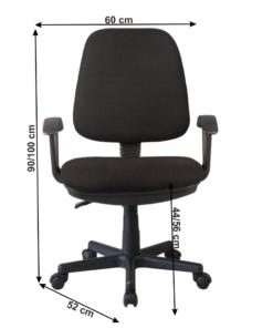 Kancelárska stolička, čierna, COLBY, poškodený tovar